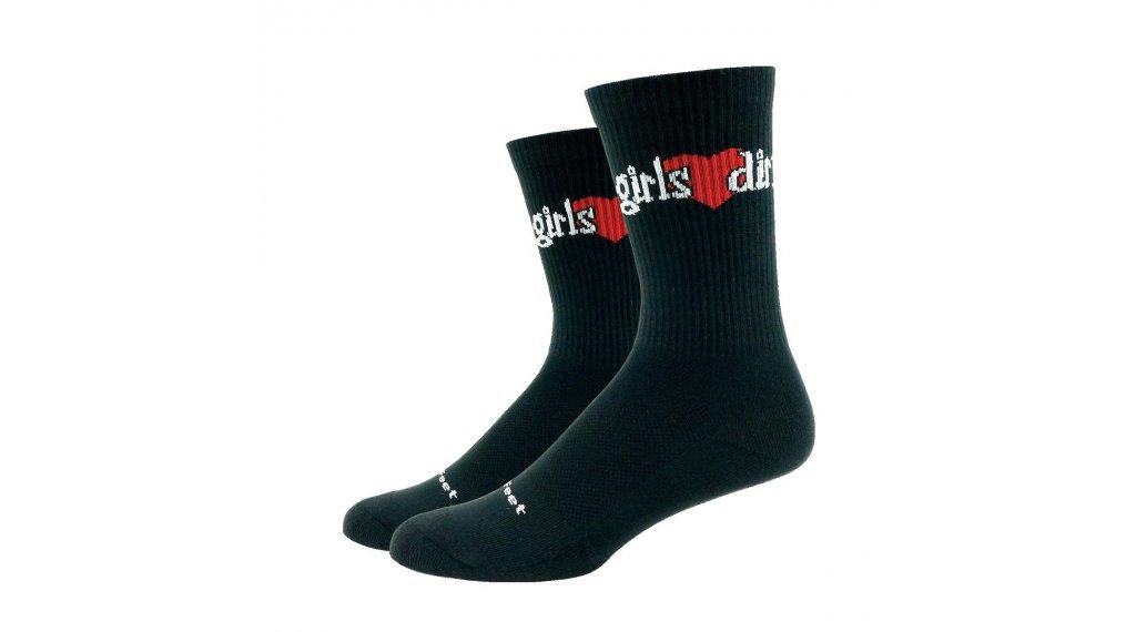 DeFeet Levitator Trail Girls Love Dirt (15厘米) Sportsocken 型号 S (36-39,5) 黑色