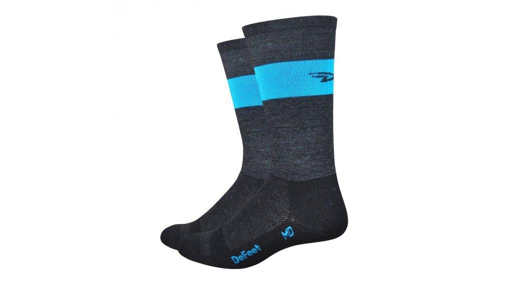 DeFeet Wooleator Team DeFeet (18cm) Sportsocken Gr. S (36 - 39,5) schwarz/blau