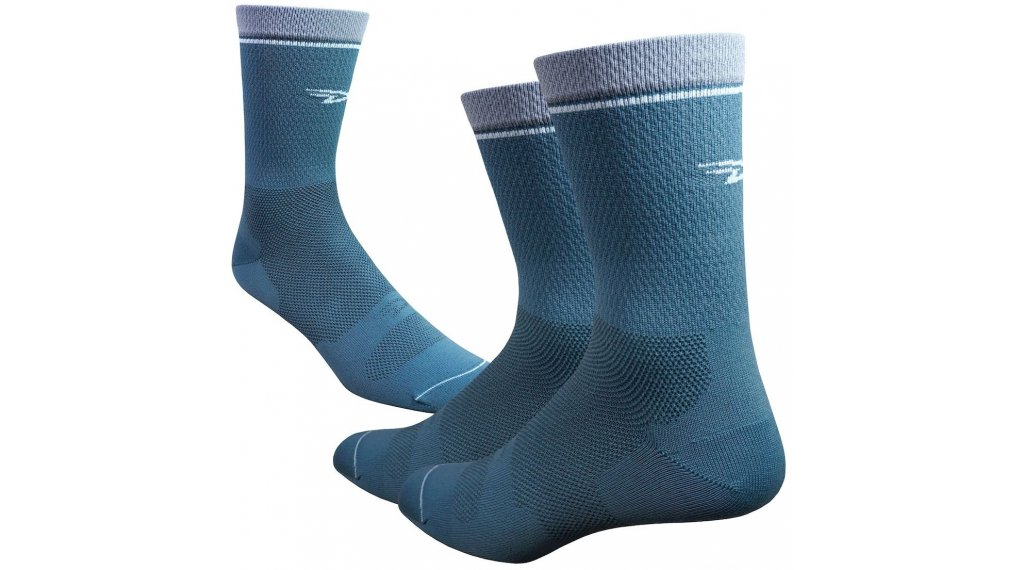 DeFeet Levitator Lite 15cm Socken Gr. M (40-42,5) blaugrau