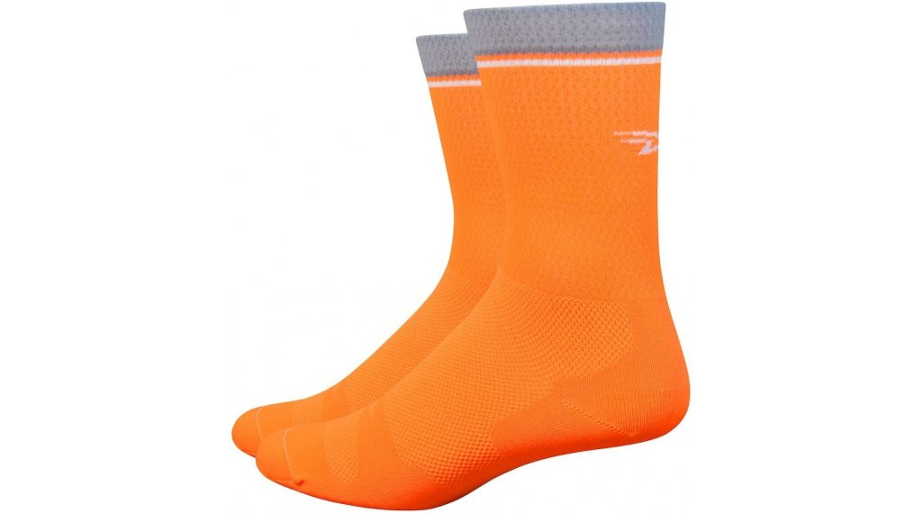 DeFeet Levitator Lite 15cm Socken Gr. S (36-39,5) neon orange