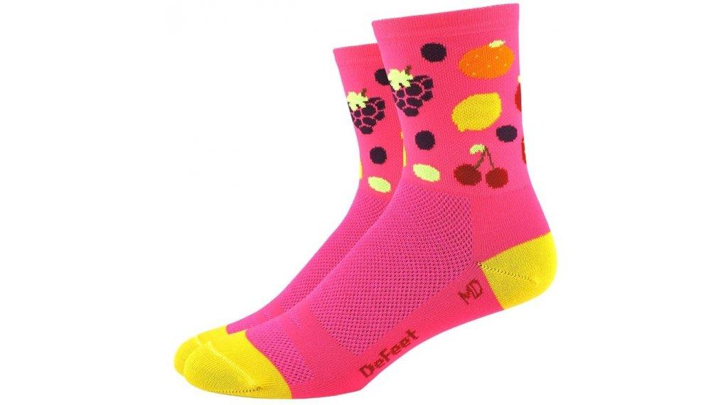 DeFeet Aireator Tutti Frutt (10cm) Sportsocken Damen Gr. M (40-42,5) pink
