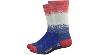 DeFeet Wooleator Comp 15cm socks Fade blue/red
