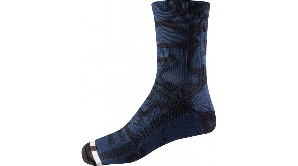 Fox Print calcetines 20cm tamaño S/M navy/grey