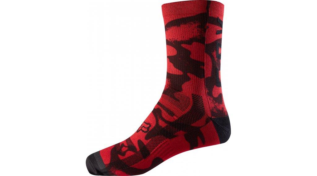 Fox Print calcetines 20cm tamaño S/M rojo/negro