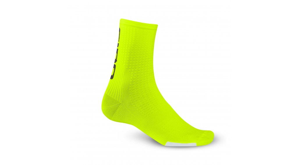 Giro HRC Team High 骑行袜 型号 S highlight yellow/black