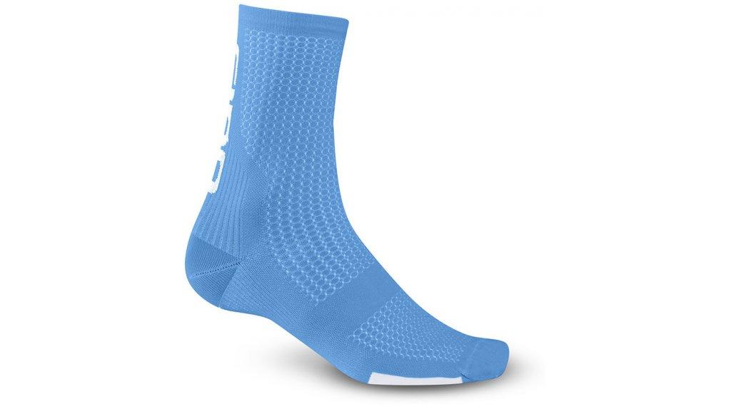 Giro HRC Team High 骑行袜 型号 L blue jewel/white