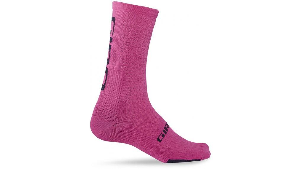 Giro HRC Team High 骑行袜 型号 L bright 粉色/black