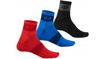 Giro Comp Racer Mid socks (3-Pack) bright red/blue/charcoal 2019
