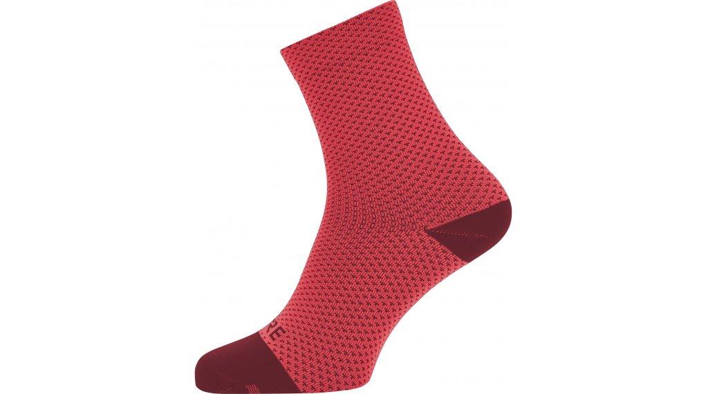 Gore C3 Dot ponožky středně dlouhý velikost 35/37 hibiscus pink/chestnut red