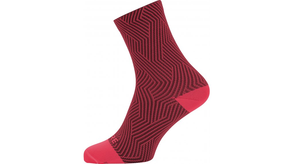Gore C3 Optiline socks mid length size 35/37 hibiscus pink/chestnut red