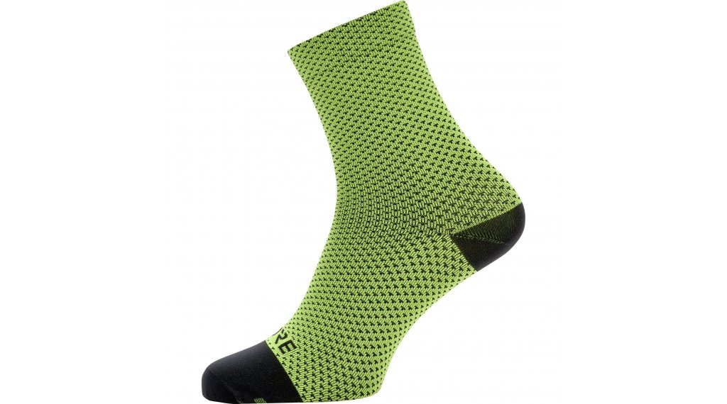 GORE C3 Dot 骑行袜 中等长度 型号 35/37 neon yellow/black