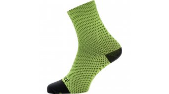 Gore C3 Dot socks mid length neon yellow/black