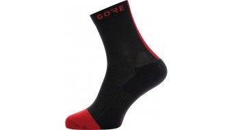 GORE M 骑行袜 中等长度 型号 35-37 black/red