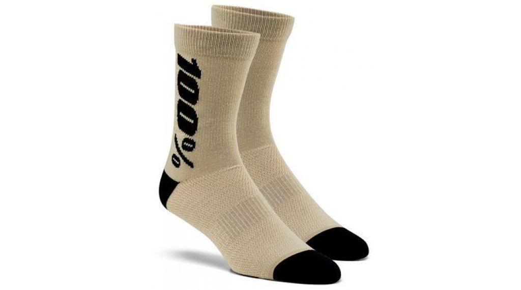 100% Rythym Merino Socken Gr. S-M warm grey
