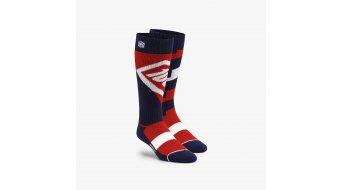 100% Torque Komfort Moto Socken Gr. S/M red