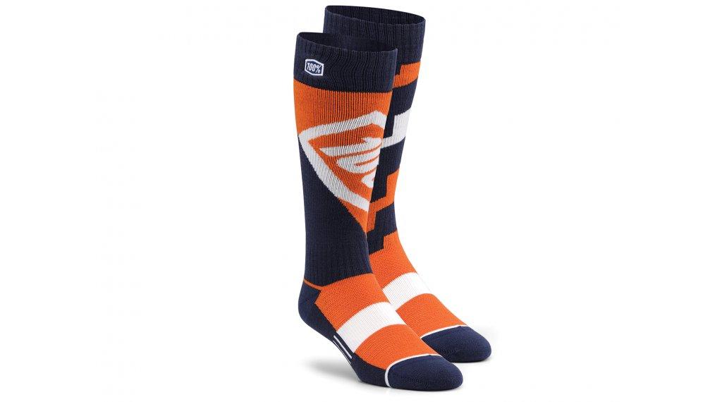 100% Torque Komfort Moto Socken Gr. L/XL orange