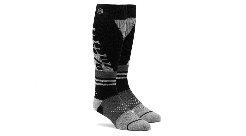 100% Torque Komfort Moto Socken Gr. S/M black/grey