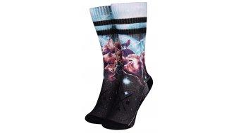 Loose Riders Wolfpack sokken maat.#*en*# unisize #*en*#zwart/turquise