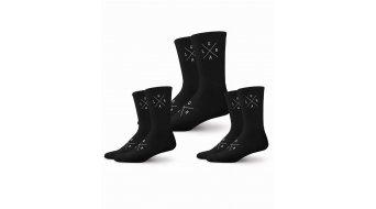 Loose Riders X-logo drie paar (of 3 stuks) sokken maat.#*en*# unisize #*en*#zwart/wit
