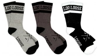Loose Riders calzini mis. unisize black+grey+white (3 paio )