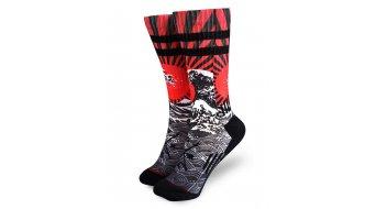 Loose Riders Rising Sun calzini mis.  unisize  rosso/nero