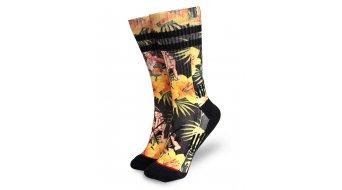 Loose Riders Tiki Time sokken maat.#*en*# unisize #*en*#zwart/oranje
