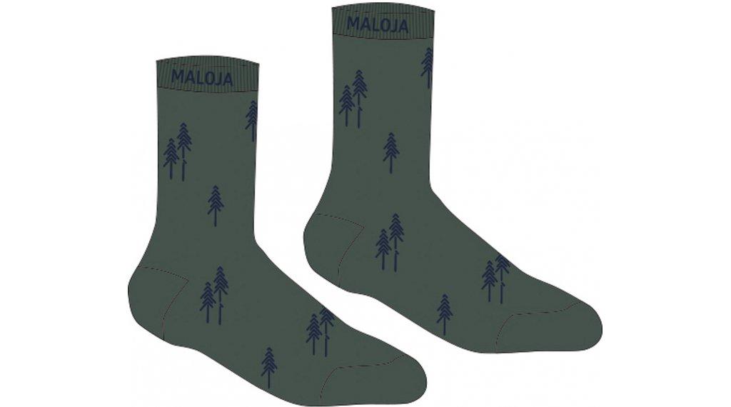 Maloja GankarM. calcetines tamaño 39/42 dark cypress