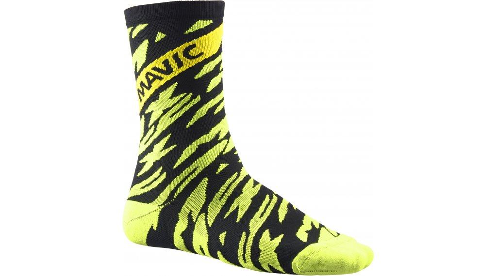 Mavic Deemax PRO High 骑行袜 型号 S (35/38) safety yellow/black