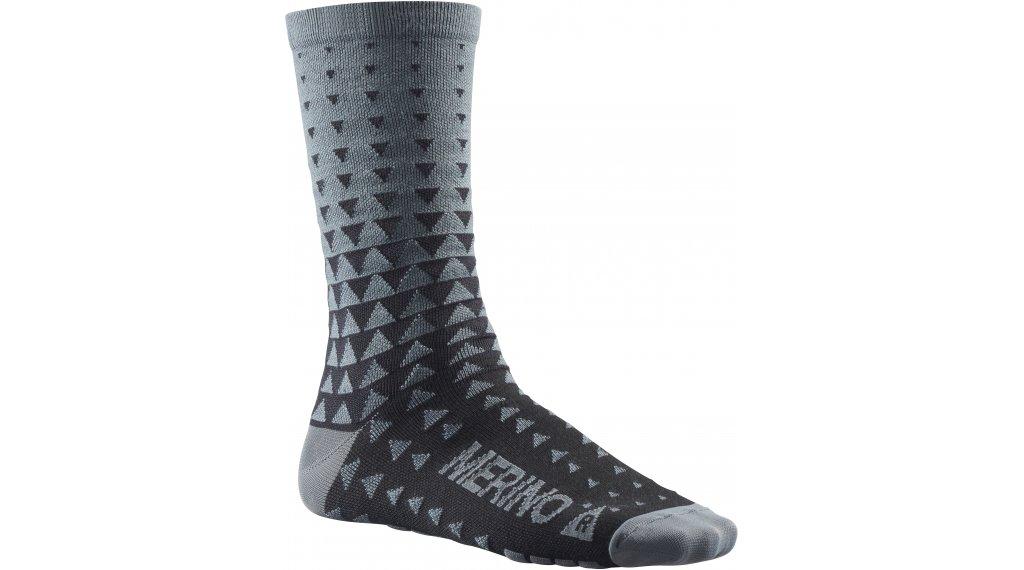 Mavic Ksyrium Merino Graphic 骑行袜 型号 S (35/38) asphalt/black