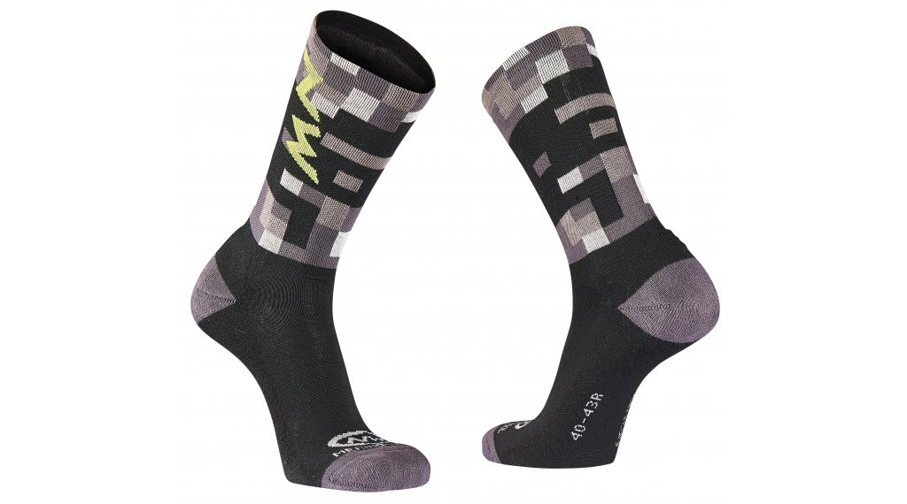 Northwave Core High Socken Gr. M grey/yellow fluo