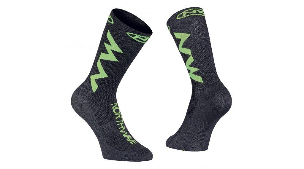 Northwave Extreme Air Socken Gr. L black/lime fluo