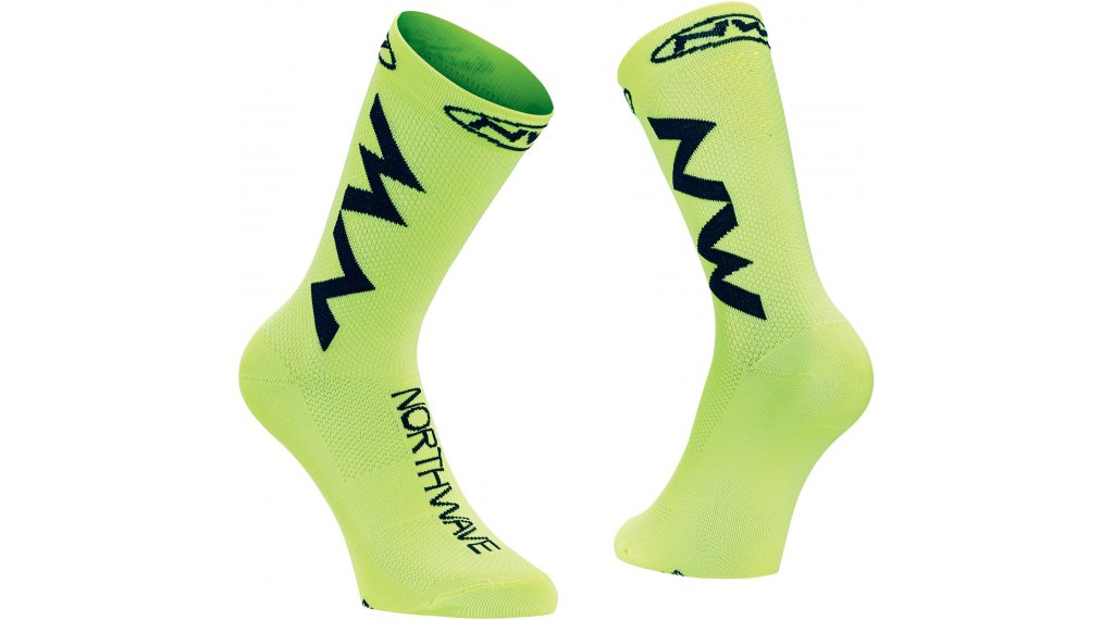Northwave Extreme Air Socken Gr. L yellow fluo/black