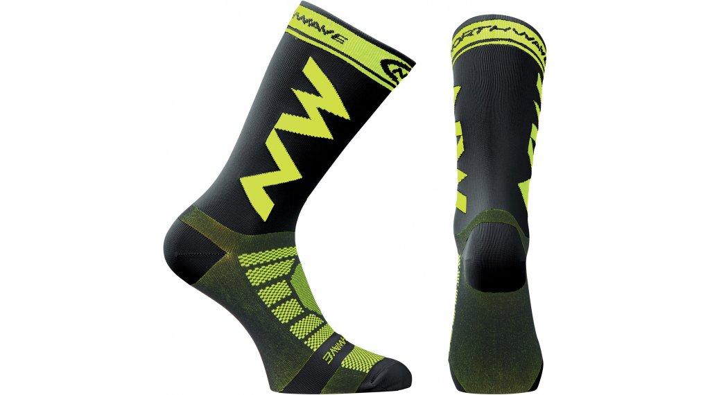 Northwave Extreme PRO 骑行袜 型号 L black/青柠色 fluo