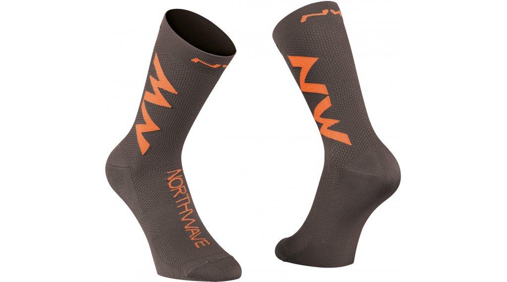 Northwave Extreme Air calcetines tamaño XS anthracite/siena naranja