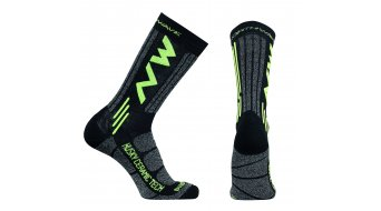 Northwave Husky Ceramic Tech 2 High Socken Gr. M black/yellow fluo
