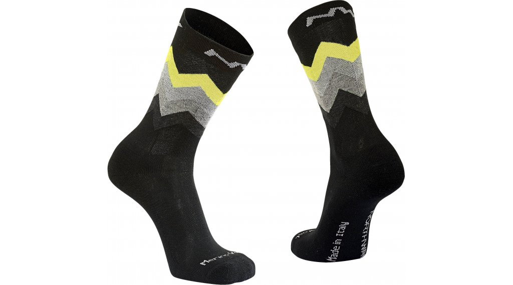 Northwave Core High Socken Gr. L black/yellow fluo