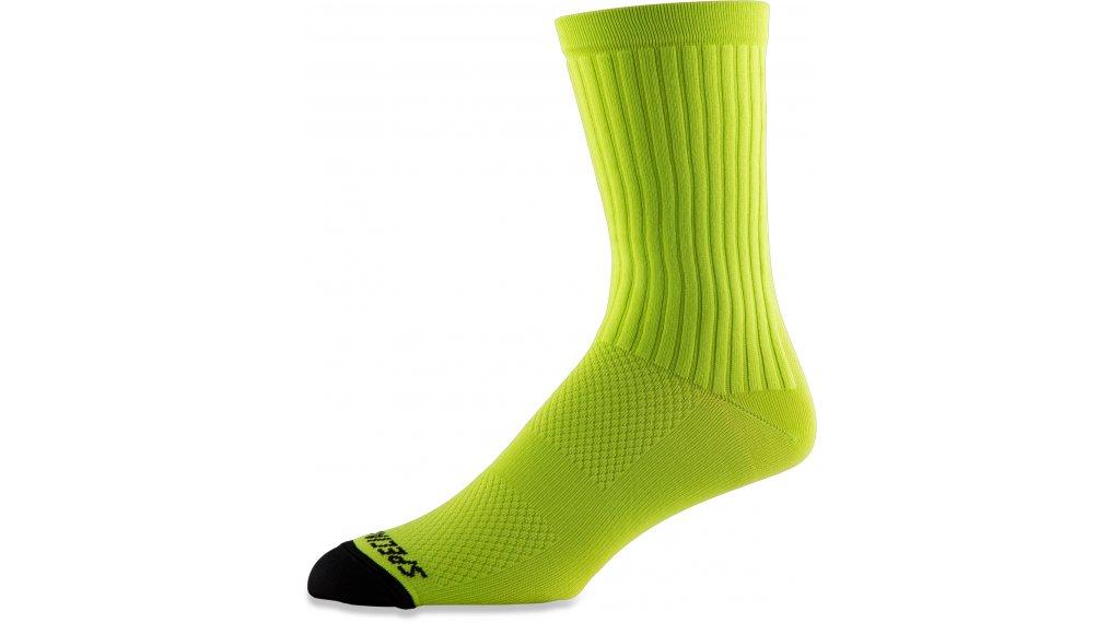 Specialized Hydrogen Aero Tall Socken Gr. L hyper green