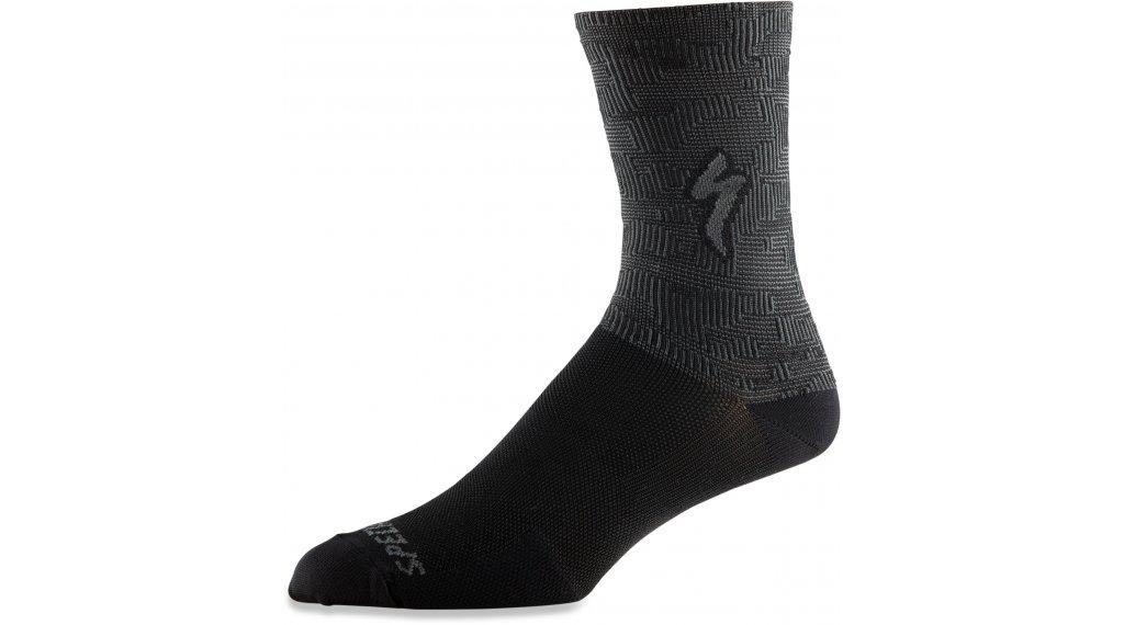 Specialized Soft Air Tall Socken Gr. L black/charcoal terrain
