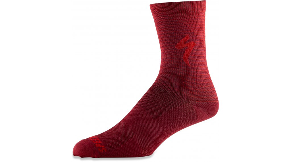 Specialized Soft Air Tall Socken Gr. L crimson/rocket red arrow