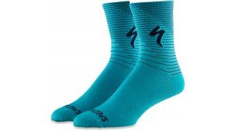 Specialized Soft Air Tall Socken Gr. L aqua/cast blue arrow
