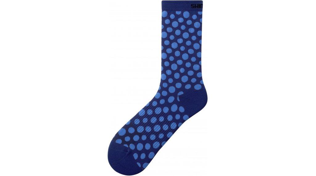 Shimano Original Tall 骑行袜 型号 S-M (36-40) navy/blue dot