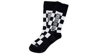 Troy Lee Designs GP checkers MX socks kids size M/L (4-6) black