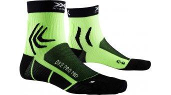 X-Socks Bike Pro Mid Socken Gr. 39-41 opal black/amazonas green