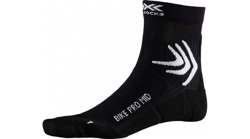 X-Socks Bike Pro Mid Socken Gr. 39-41 opal black