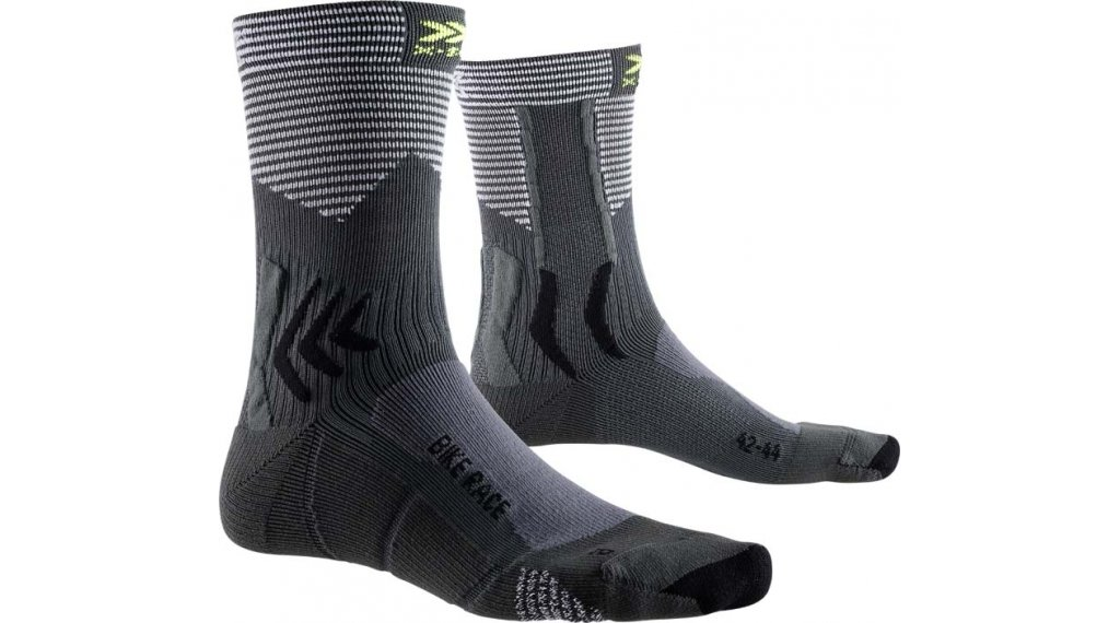X-Socks Bike Race Socken Gr. 39-41 charcoal/arctic white