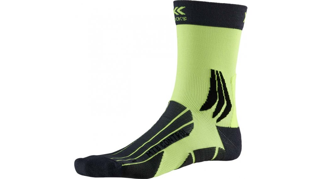 X-Socks MTB Control Socken Gr. 39-41 charcoal/phyton yellow
