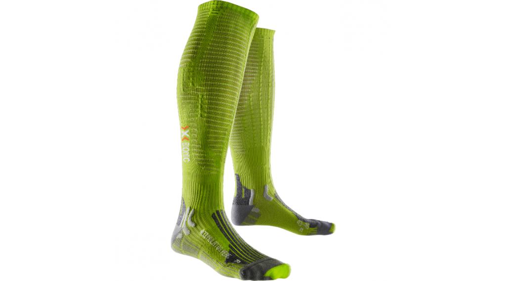 X-Bionic Effektor Performance Socken Herren Gr. 35-38 (M) GreenLime / Pearl grey