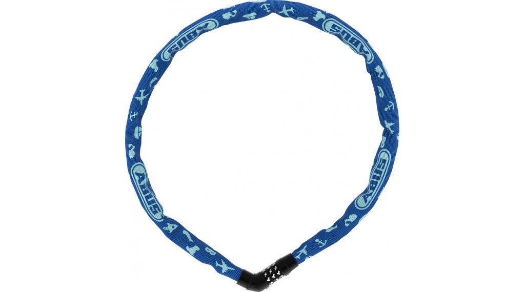 Abus Steel-O-Chain 4804C Symbos 自行车锁 链条-/密码锁 75厘米-长 blue