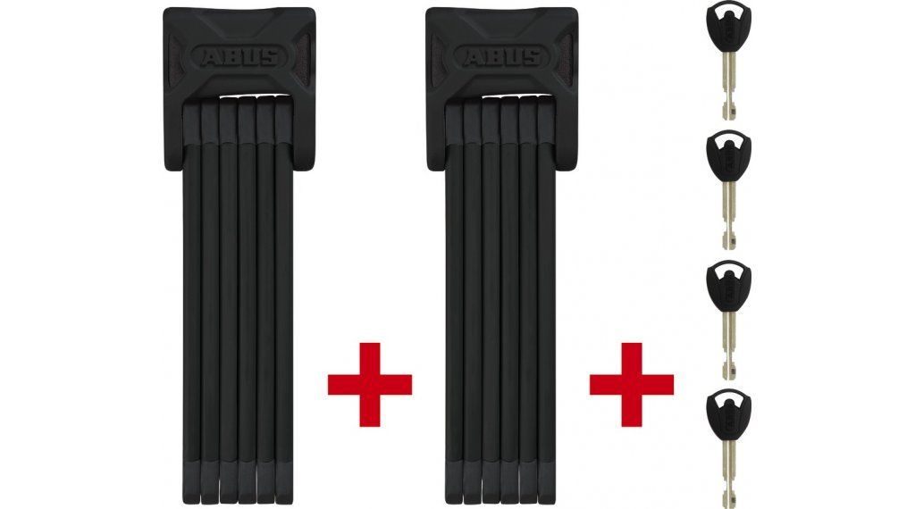 Abus Bordo 6000 Twinset candado para bicicleta candado plegable 90cm-largo(-a) negro