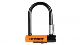 Kryptonite Evolution Mini-5 U型挂锁 8mm x 14cm black/橙色